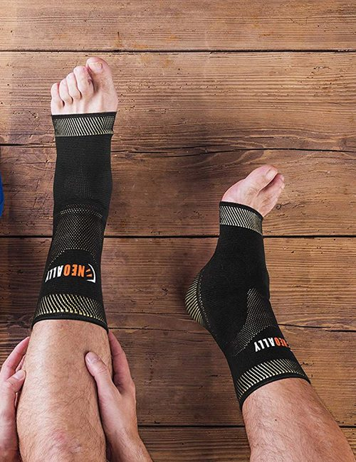 NeoAlly® Copper Gel-Padded Ankle Sleeves - Support for Everyday Activities | NeoAllySports.com